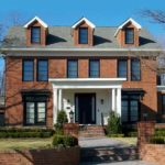 Redbrick house with Fiberglass windows