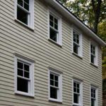 line of windows on a house in port jefferson